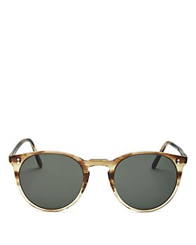 Oliver Peoples - Unisex O'Malley Polarized Round Sunglasses, 48mm