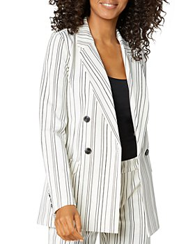 Liverpool Los Angeles - Striped Double Breasted Blazer