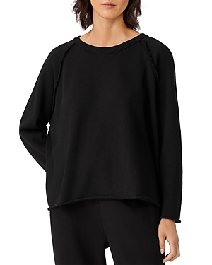 Eileen Fisher BOXY CREWNECK SWEATSHIRT