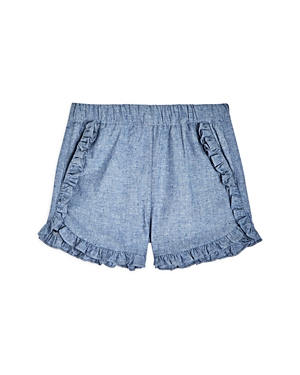 Sovereign Code Girls' Chella Chambray Ruffle Shorts - Little Kid, Big Kid In Blue