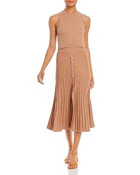 Bardot - Ribbed Knit Top & Skirt