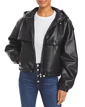 Apparis - Israel Hooded Faux Leather Jacket