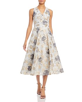 Eliza J - Floral A-Line Sleeveless Dress