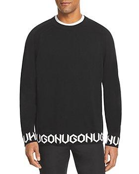 HUGO - Shem Intarsia Logo Sweater