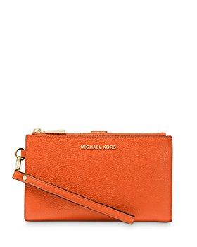 MICHAEL Michael Kors - Adele Double Zip Leather iPhone 7 Plus Wristlet