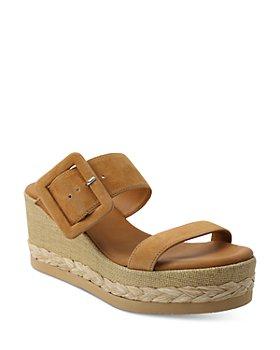 Andre Assous - Women's Jean Buckled Suede Platform Espadrille Sandals