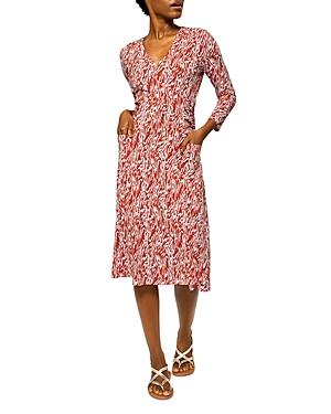Eliza Printed Midi Dress