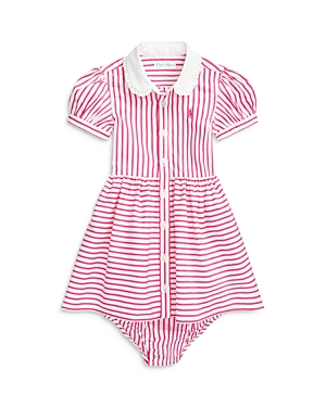 Ralph Lauren POLO RALPH LAUREN GIRLS' STRIPED SHIRT DRESS & BLOOMERS - BABY
