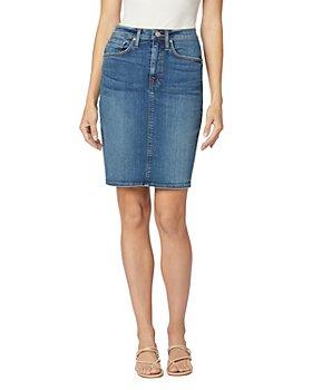 Hudson - Centerfold Extreme High Rise Denim Skirt in Temptations