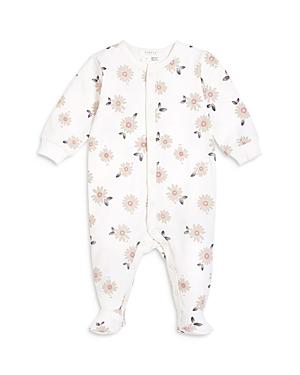 Firsts by petit lem Girls' Daisy Print Sleeper Footie - Baby