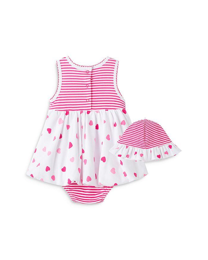 LITTLE ME Sets GIRLS' HEART POPOVER DRESS & HAT SET - BABY