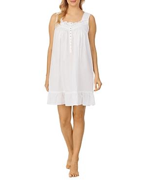 Ruffle Hem Cotton Chemise Nightgown