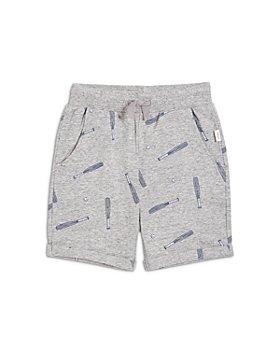 Miles Child - Boys' Cotton Blend Baseball Print Shorts - Little Kid