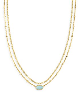 """Kendra Scott - Emilie Mother of Pearl Layered Necklace, 15.5-18.5"""""""
