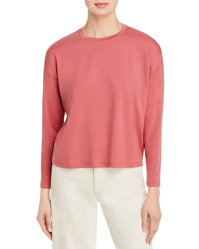 Eileen Fisher - Cropped Boxy Tee - 100% Exclusive