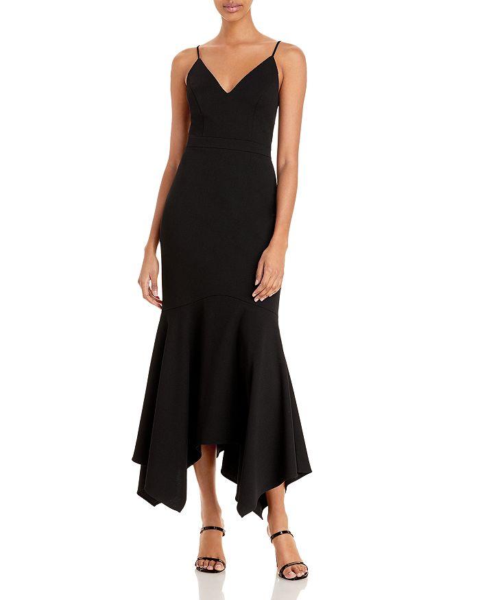 AQUA - Asymmetric Flounce Cocktail Dress - 100% Exclusive