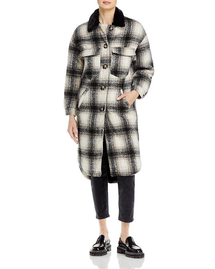 Apparis - James Faux Fur Lined Plaid Shirt Coat
