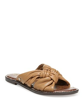 Sam Edelman - Women's Garson Woven Double Strap Leather Slide Sandals