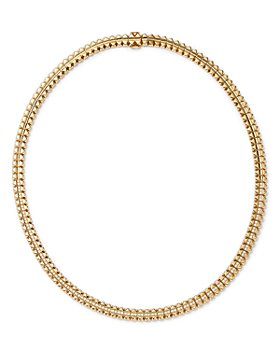Roberto Coin - 18K Yellow Gold Petite Obelisco Diamond Collar Necklace, 1.02 ct. t.w.