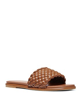 MICHAEL Michael Kors - Women's Amelia Square Toe Woven Slide Sandals