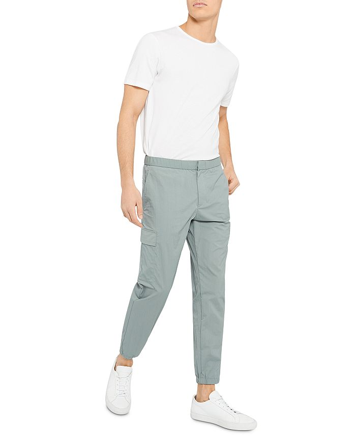 THEORY Straight pants ZAINE KELSO PIQUE SLIM STRAIGHT PANTS