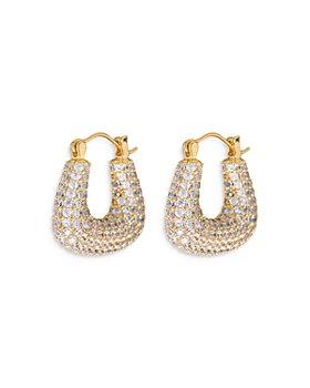 Luv Aj - Pave Tia Hoop Earrings