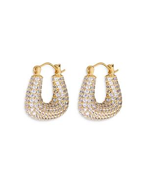 Pave Tia Hoop Earrings