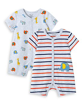 Little Me - Boys' Cotton Elephant Rompers, Set of 2 - Baby