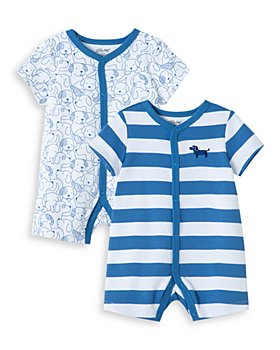 Little Me - Boys' Cotton Puppy Rompers, Set of 2 - Baby