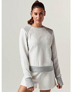 Blanc Noir - Croc Textured Knit Sweatshirt