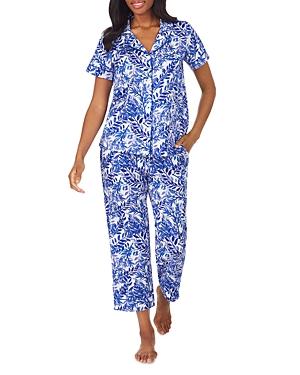 BedHead Printed Short Sleeve Cotton Sateen Pajama Set