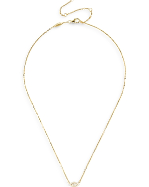 Baublebar Necklaces BASIRAH CUBIC ZIRCONIA EVIL EYE CHARM COLLAR NECKLACE IN 18K GOLD PLATED STERLING SILVER, 16-19