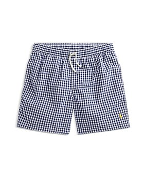 Ralph Lauren - Boys' Traveler Gingham Swim Trunks - Little Kid, Big Kid