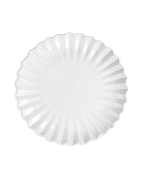 VIETRI - Incanto Stone White Pleated Dinner Plate