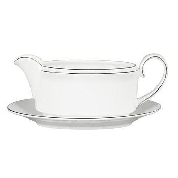 "Vera Wang - for Wedgwood ""Blanc Sur Blanc"" Gravy Boat"