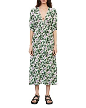 Maje - Romantica Printed Midi Dress