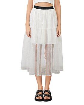 Maje - Jiris Sequined Tulle Skirt