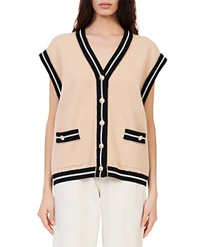 Maje - Marshelli Oversized Sleeveless Cardigan