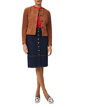 Hobbs London Mariette Suede Jacket