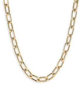 "David Yurman - 18K Yellow Gold Madison Link Necklace, 18.5"""