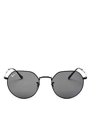 Ray-Ban Unisex Polarized Geometric Sunglasses, 53mm