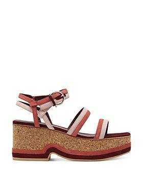 Salvatore Ferragamo - Suede Strap Wedge Sandals