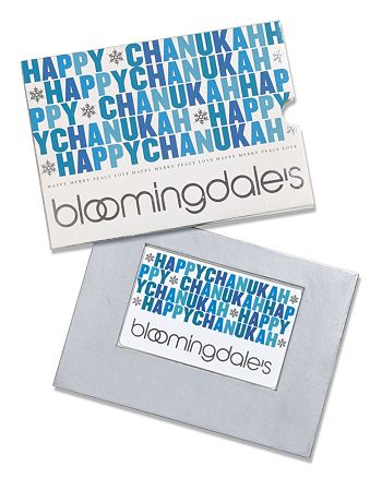 Bloomingdale's - Happy Hanukah Gift Card with Box - $100