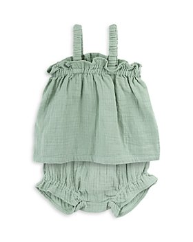 Oliver & Rain - Girls' Cotton Sleeveless Top and Bloomers Set - Baby
