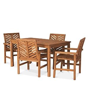 Sparrow & Wren Harbor 5 Piece Outdoor Patio Dining Set