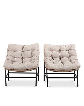 Sparrow & Wren - Carmel Papasan Outdoor Patio Chairs, Set of 2