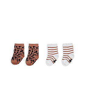 Huxbaby - Girls' Animal Print & Stripe Sock Set, 2-Pc. Set - Baby