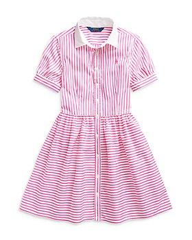 Ralph Lauren - Girls' Striped Shirt Dress - Little Kid, Big Kid