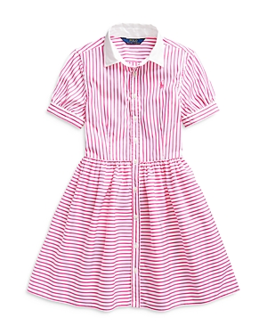 Ralph Lauren POLO RALPH LAUREN GIRLS' STRIPED SHIRT DRESS - BIG KID