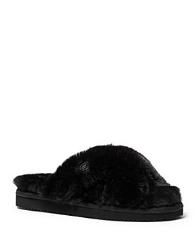 MICHAEL Michael Kors - Women's Lala Faux Fur Crisscross Slippers